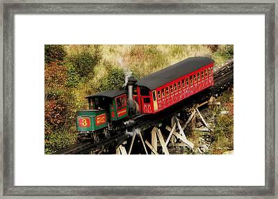 Cog Railway Vintage Framed Print