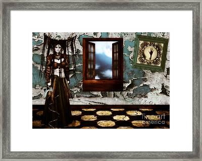 Cogitatione Abstracta Framed Print