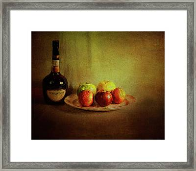 Cognac And Fruits Framed Print