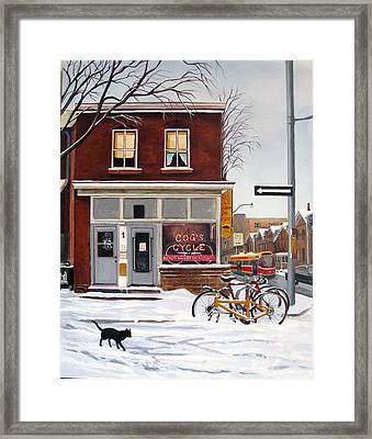 Framed Print featuring the painting Cog's Cycle by Margit Sampogna
