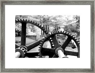 Cogs Framed Print by Greg Fortier