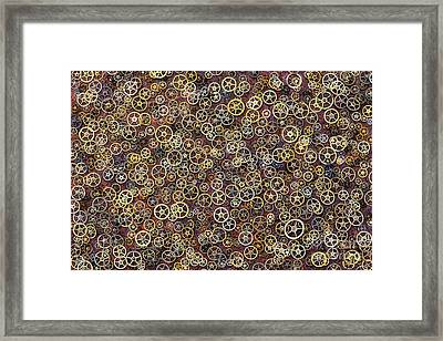 Cogs Framed Print by Tim Gainey