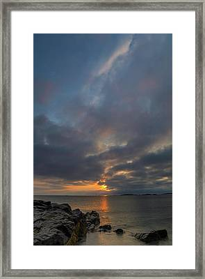 Framed Print featuring the photograph Cohasset Massachusetts Sandy Beach Sunrise  by Juergen Roth