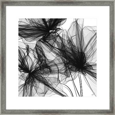 Coherence - Black And White Modern Art Framed Print by Lourry Legarde