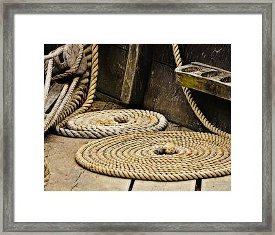 Coiled Rope From Philadelphia II Gunboat Framed Print
