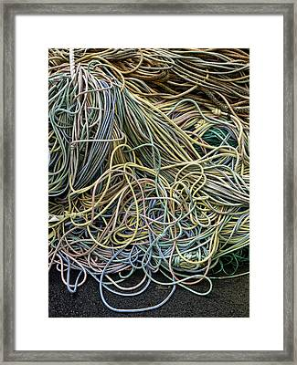 Coils Of Rope Framed Print by Carol Leigh