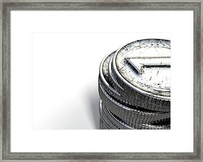 Coin Number One Stack Framed Print