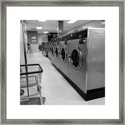 Coin Wash Framed Print