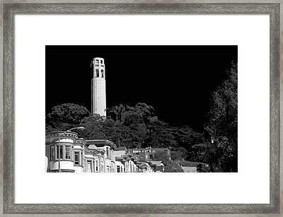 Coit Tower Framed Print by Anthony Citro