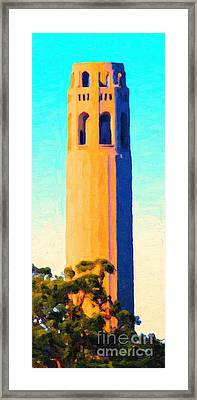 Coit Tower San Francisco Framed Print by Wingsdomain Art and Photography