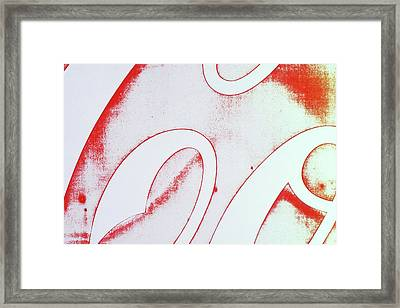 Framed Print featuring the photograph Coke 2 by Laurie Stewart