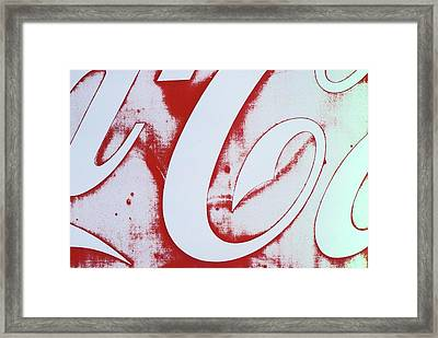 Framed Print featuring the photograph Coke 3 by Laurie Stewart