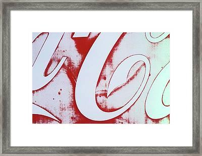 Coke 3 Framed Print by Laurie Stewart