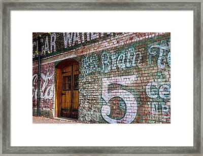 Coke And 5 Cent Cigars Framed Print