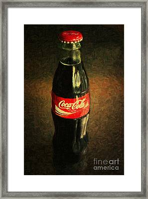 Coke Bottle Framed Print by Wingsdomain Art and Photography