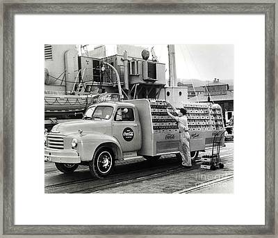 Coke Delivery Truck Framed Print