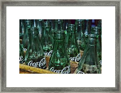 Coke Its The Real Thing Framed Print by Paul Ward