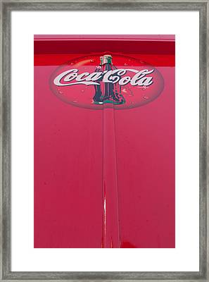 Coke Lollipop Framed Print by Scott Campbell