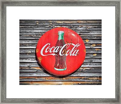 Coke Framed Print by Marion Johnson