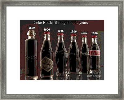 Coke Through Time Framed Print