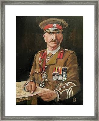 Col Charles Close Framed Print