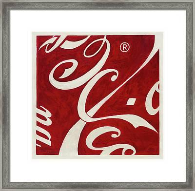 Cola - Coca Framed Print by Antonio Ortiz