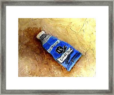 Colbalt Blue Framed Print