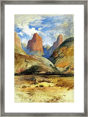 Colburns Butte South Utah Framed Print by Thomas Moran