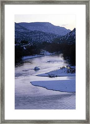 Cold And Blue Framed Print by Lynard Stroud