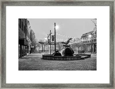 Cold And Foggy Morning Framed Print by Monte Stevens