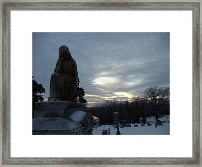 Cold And Lonesome Framed Print