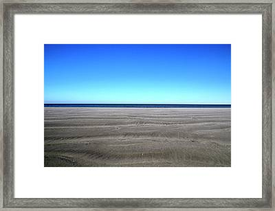 Cold Beach Day Framed Print