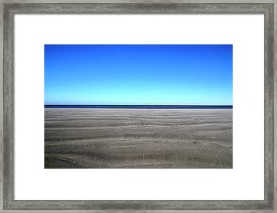 Cold Beach Day Framed Print