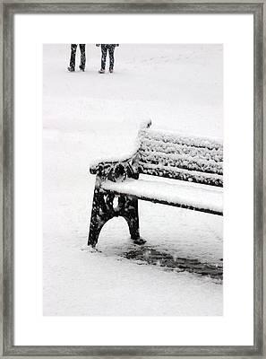 Cold Bench 2 Framed Print by Jez C Self
