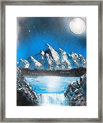 Cold Blue Framed Print