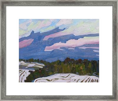 Cold Cloud Fingers Framed Print