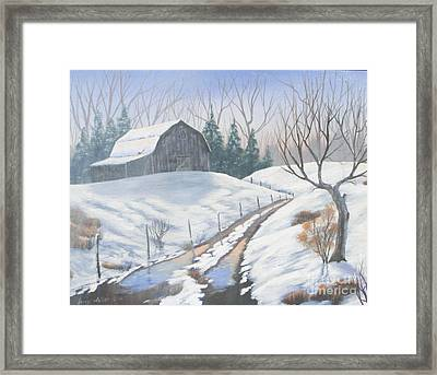 Cold Country Framed Print