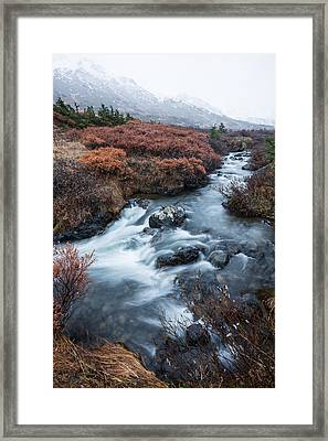 Cold Creek In Autumn Framed Print