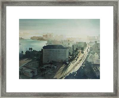 Cold Dawn On Gulf Boulevard Framed Print