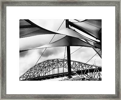 Windy Day At The Corpus Christi Harbor Bridge Framed Print by Wendy J St Christopher