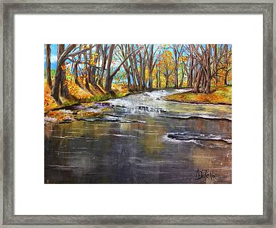 Cold Day At The Creek Framed Print