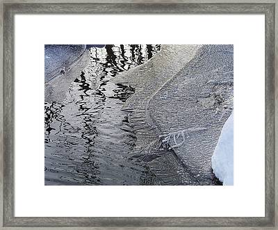 Cold Enough To Frost A Stick Framed Print