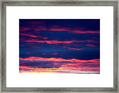 Cold Front Sunset One Framed Print by Ana Villaronga