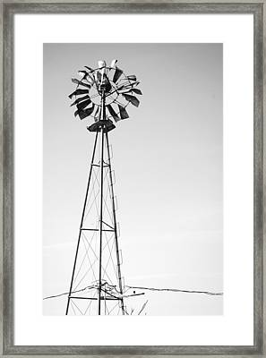 Cold Gray Wind Framed Print