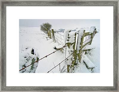 Cold Landscape Framed Print by Richard Outram