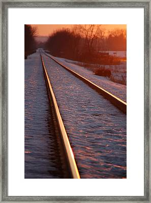 Cold Line Sunset Framed Print