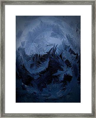 Cold Moon Rising Framed Print