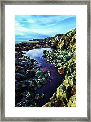 Cold Morning At Cutler Coast Framed Print by ABeautifulSky Photography