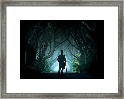 Cold Morning In Dark Hedges Framed Print