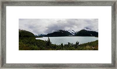 Cold Morning Panorama Framed Print